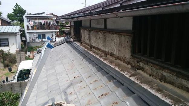 1外壁工事トタン壁施工前201409A