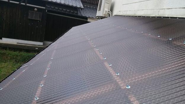 14波板屋根交換