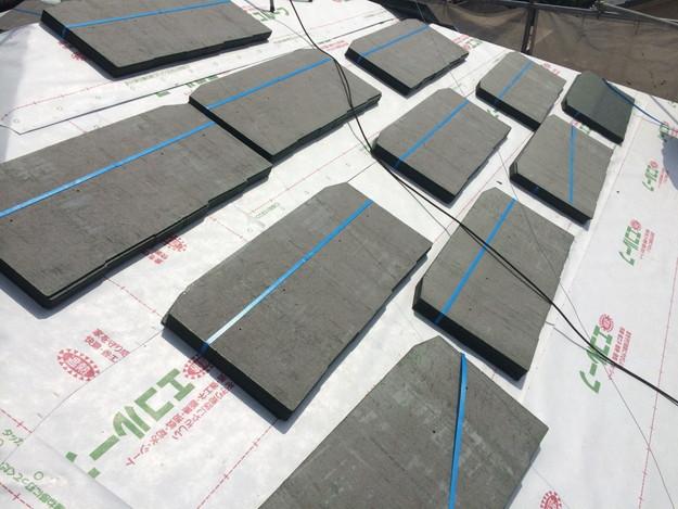 15ルーフィング下地材(防水シート)張り替え作業201407明石市B