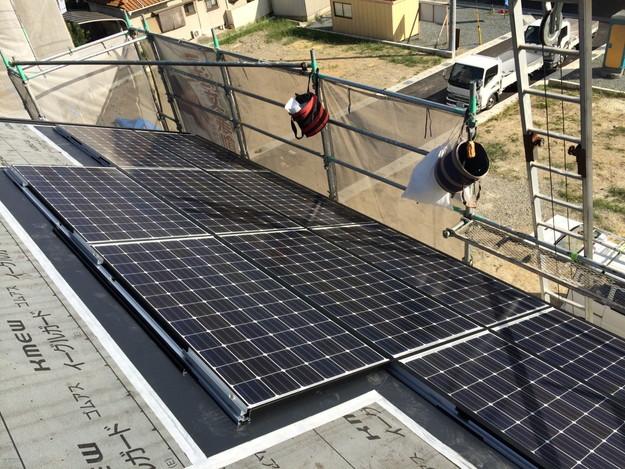 2太陽光ソーラーパネル設置風景A