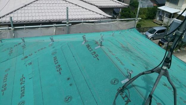 4ルーフィング下地材(防水シート)張り替え作業