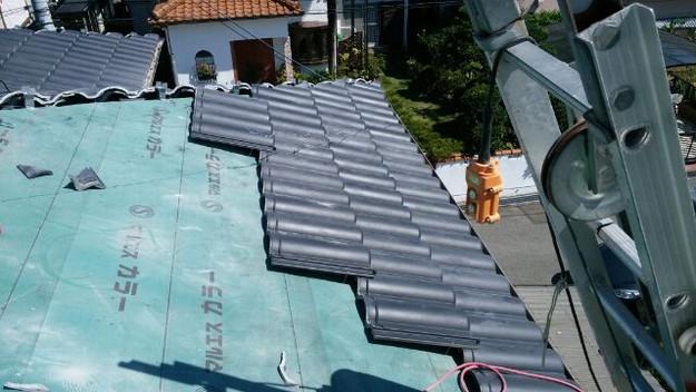 5屋根葺き替え作業