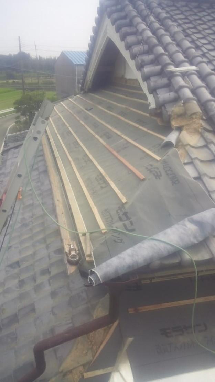 8屋根葺き替え作業