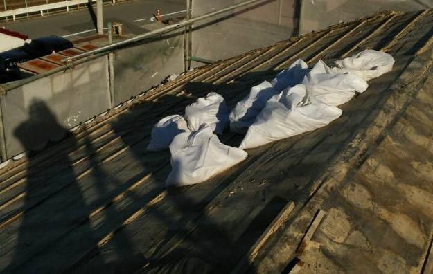 1426025740493既存屋根撤去 屋根リフォーム工事写真 明石市。