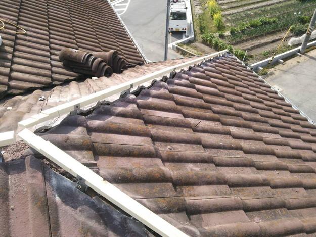 1427102345525屋根棟瓦設置前作業