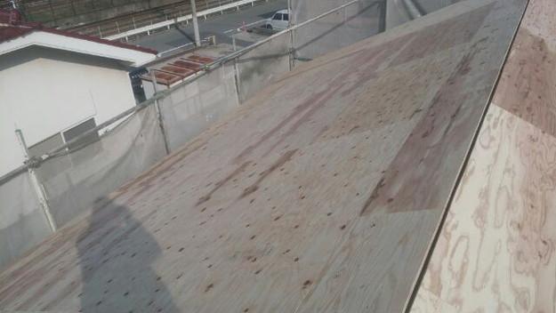 1427505670455屋根下地 屋根リフォーム工事写真 明石市。
