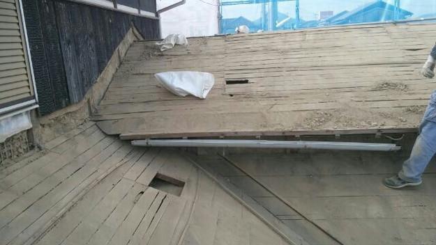 1427521659935既存屋根撤去作業中 屋根リフォーム工事 加古川市