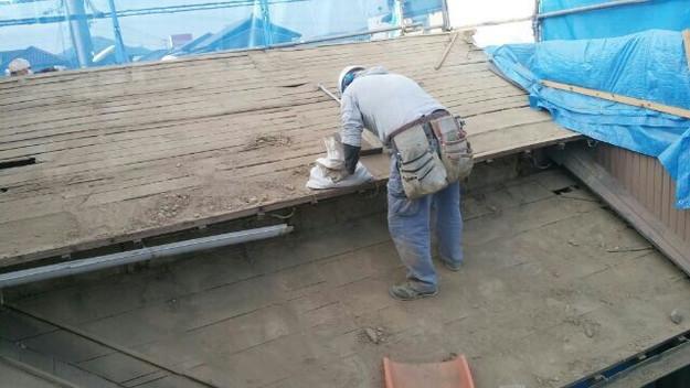 1427521661670既存屋根撤去作業中 屋根リフォーム工事 加古川市