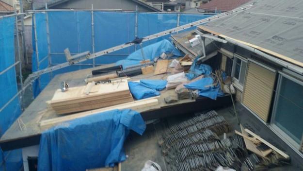 1427521673343作業中写真 屋根リフォーム工事 加古川市