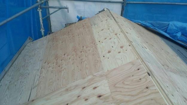 1427521675197屋根下地補強作業中 屋根リフォーム工事 加古川市
