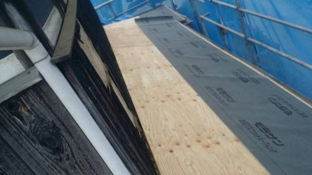 1427521676919屋根下地補強作業中 屋根リフォーム工事 加古川市