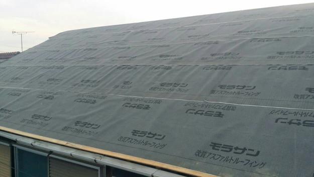 1427521688589屋根下地防水材シート設置 屋根リフォーム工事 加古川市