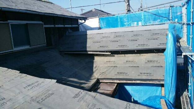 1427521714521屋根下地防水材シート設置 屋根リフォーム工事 加古川市