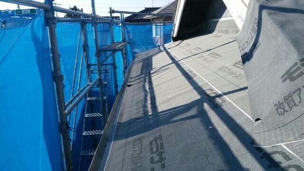 1427521716218屋根下地防水材シート設置 屋根リフォーム工事 加古川市