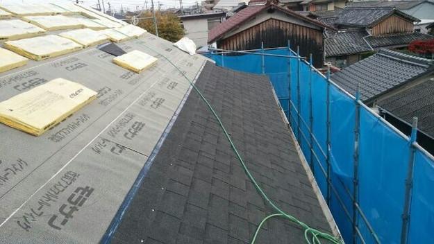 1427521721218新設屋根材取付作業 屋根リフォーム工事 加古川市