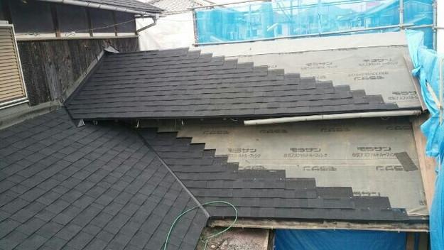 1427521739172新設屋根材取付作業