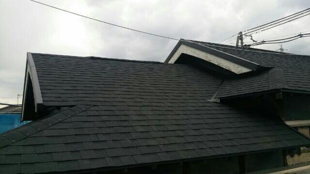 1427521765165新設屋根材取付作業 屋根リフォーム工事 加古川市