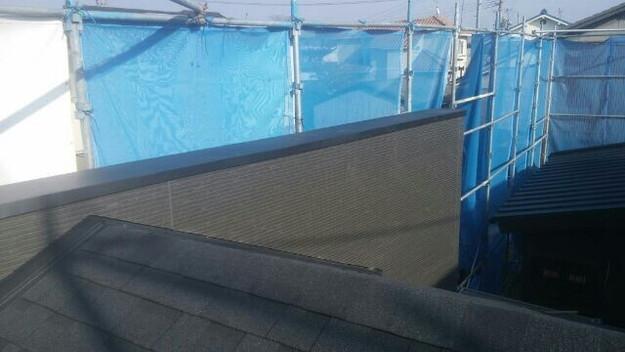 1427521781044外壁サイディング工事中の写真 屋根リフォーム工事 加古川市