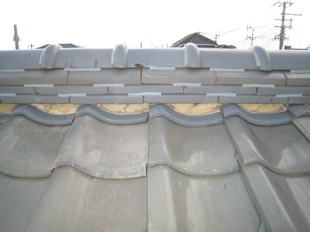 IMG_0334棟瓦修理前 屋根修理 姫路市の写真