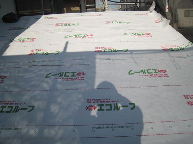 IMG_0366防水屋根下地材設置中
