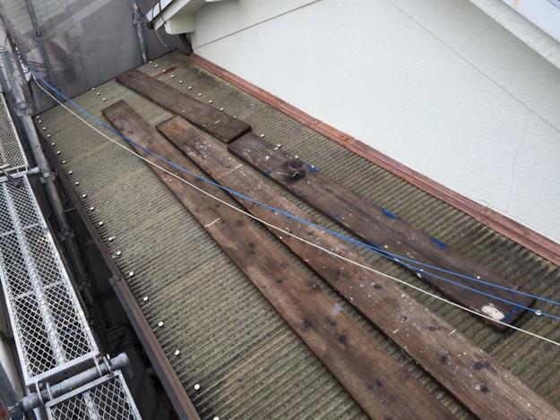 リフォーム工事前波板箇所の写真1429233417696
