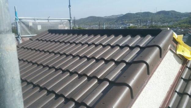 リフォーム後の屋根と雨樋1430742432097