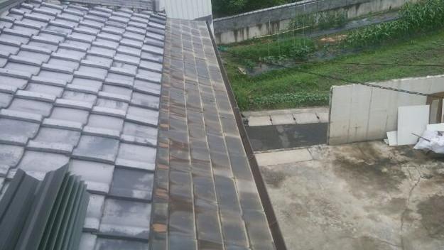 一文字銅板葺き工事前1433678206391