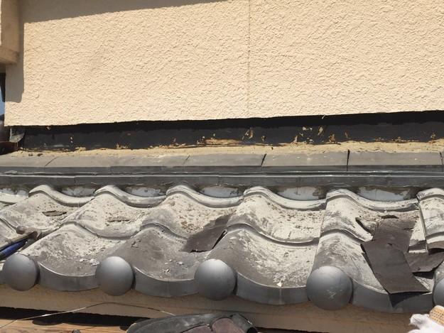 下屋根壁際庇修理1432895595861