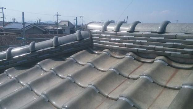 台風対策瓦のズレ防止ラバーロック工法屋根工事1433247906057