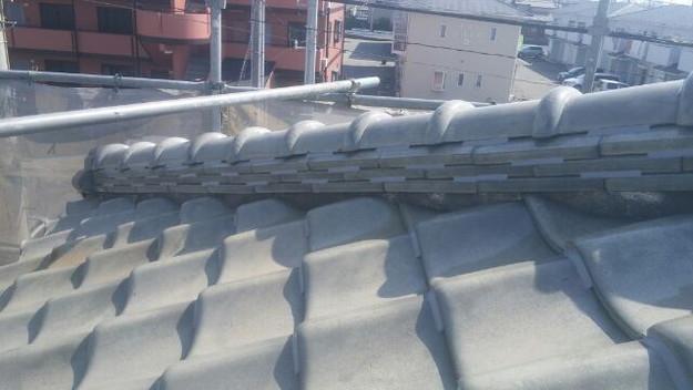台風対策瓦のズレ防止ラバーロック工法屋根工事1433247925040