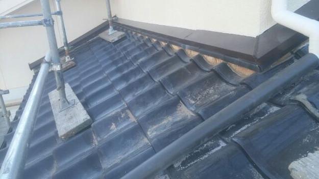 壁際雨漏り対策漆喰交換前1433678717891
