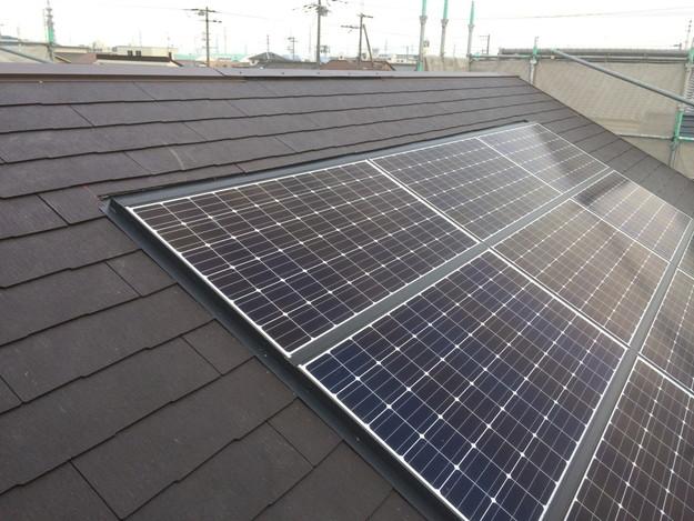 太陽光ソーラーパネル設置新築屋根工事1432733540309