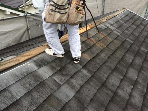 屋根リフォーム前現場写真カラーベスト屋根材1429233386635