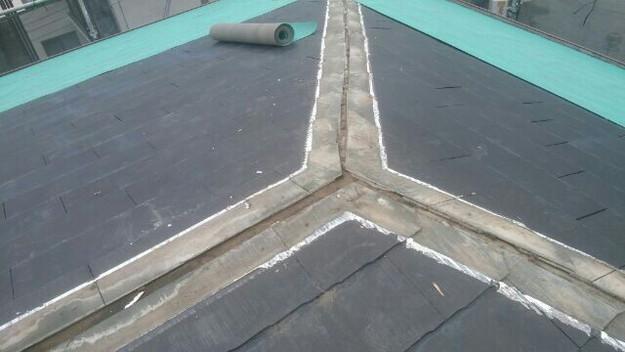 屋根リフォーム工事カバー工法下地材敷設1432211848206