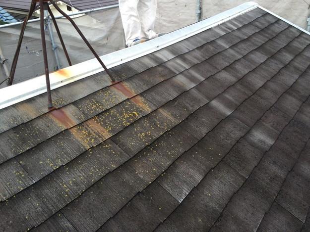 屋根リフォーム工事前の棟部写真1429233424796