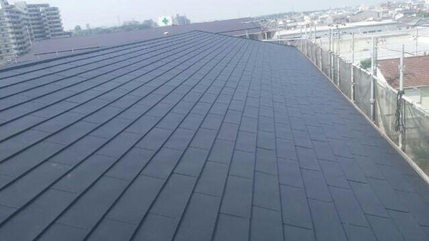 屋根リフォーム工事完了マンション1432211889374