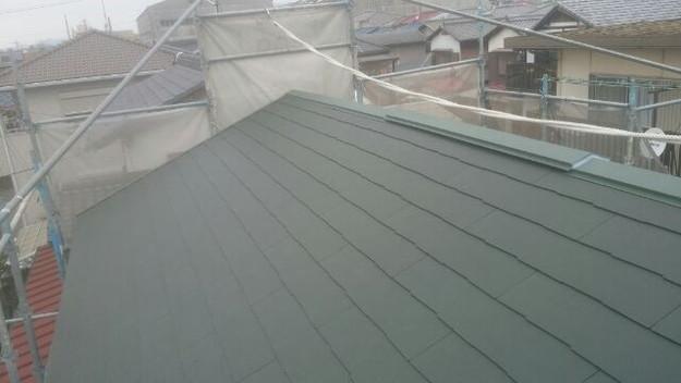 屋根リフォーム工事完了1431002088452