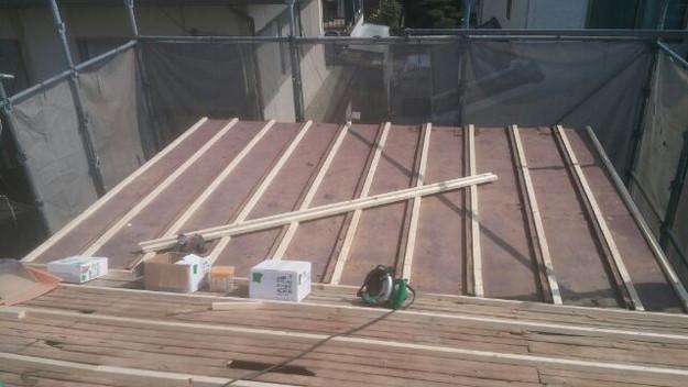 屋根リフォーム工事屋根下地補強工事1431002519054