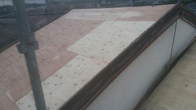 屋根リフォーム工事屋根補強作業1430742609781