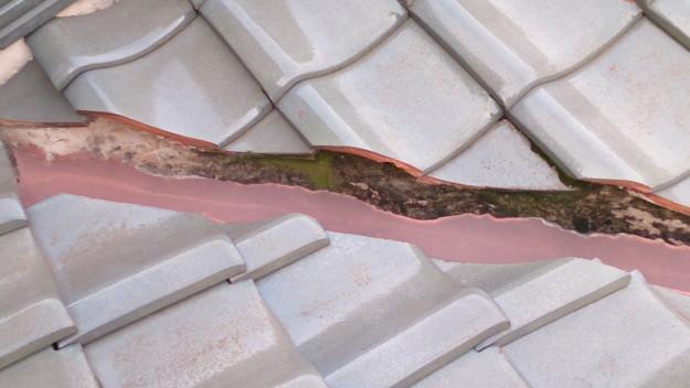 屋根修理工事前板金部DSC_0443