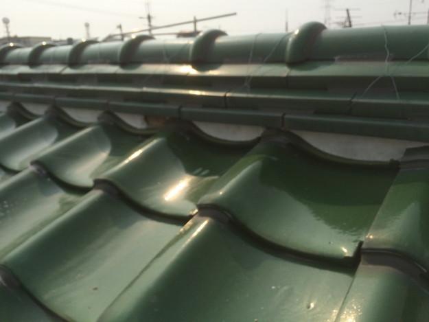 屋根修理棟漆喰工事写真1429233504995