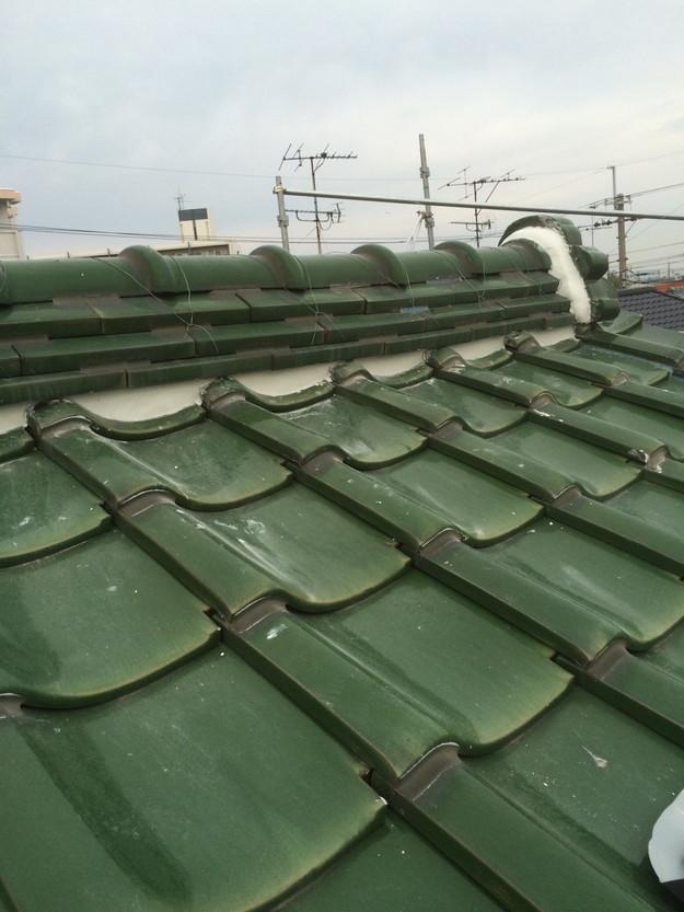 屋根修理棟漆喰工事完了後写真1429233523909