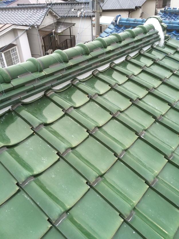 屋根修理棟部漆喰工事完了写真1429233521196
