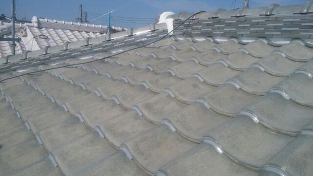 屋根修理漆喰工事完了1433247436352
