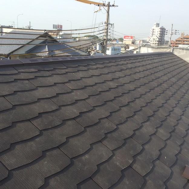 屋根工事完了1432902569821