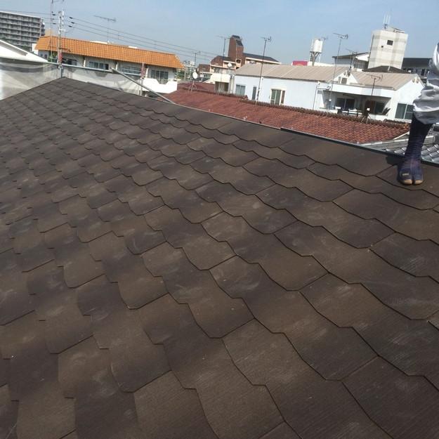 屋根材敷設完了1432902558023