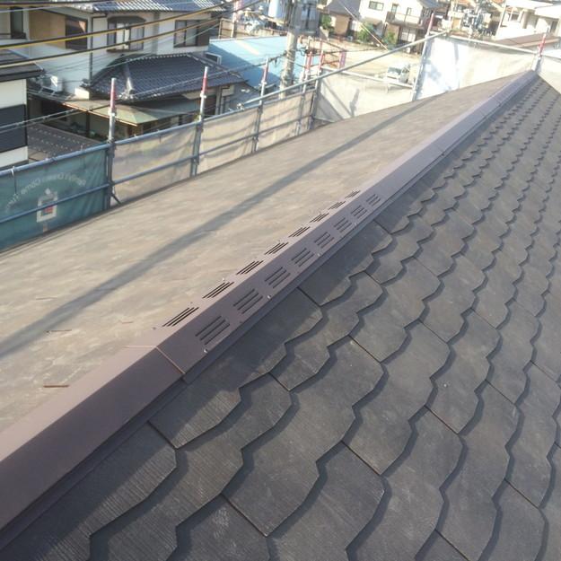 屋根裏換気対策換気棟取り付け部1432902573262
