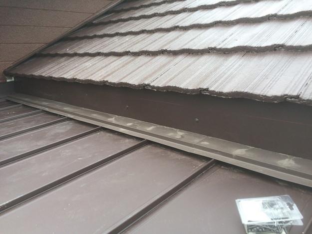 改築部屋根ガルバリウム製立平葺き工事1432470183185