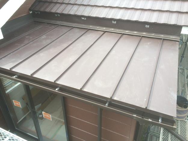 改築部屋根ガルバリウム製立平葺き工事1432470189040