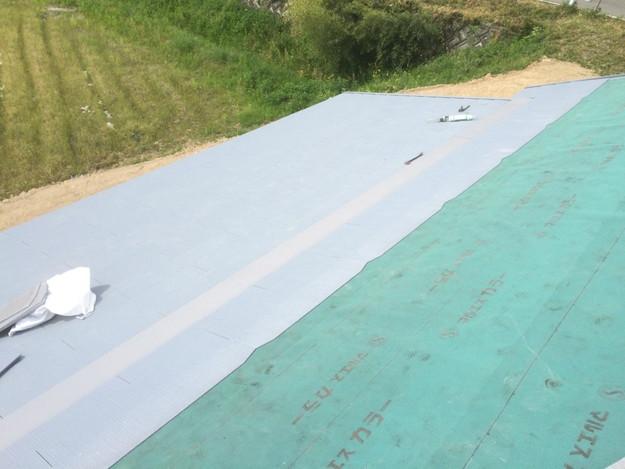 新築カラーベスト屋根工事1430732595344